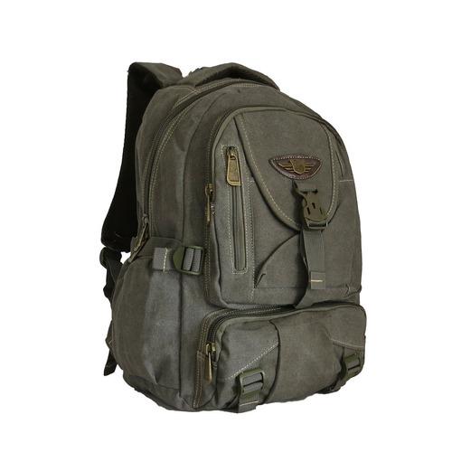 mochila em lona viagem dia a dia notebook 15 - kvn