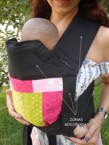 mochila ergonómica portabebé tipo mei tai,  100% algodón
