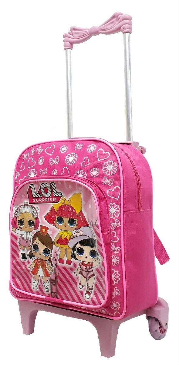 7ce12663f mochila escola infantil feminina lol com rodinhas rosa linda. Carregando  zoom.
