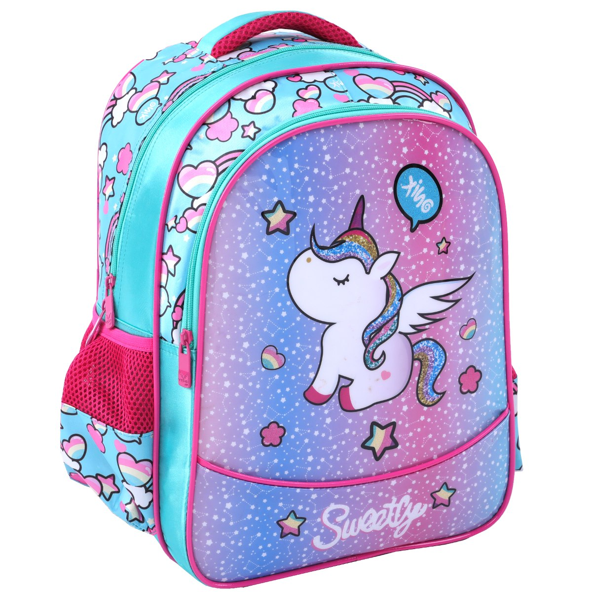 2d6b7f2b0 mochila escolar 2019 infantil de costas unicornio barata boa. Carregando  zoom.