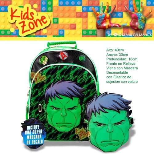 mochila escolar avengers