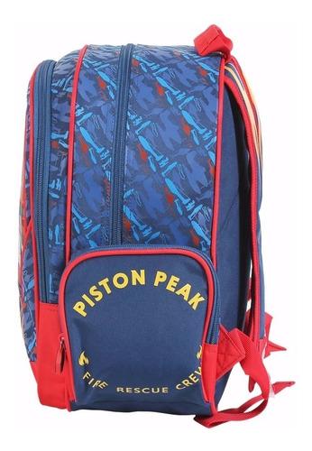 mochila escolar aviões fire m de costas - 51310