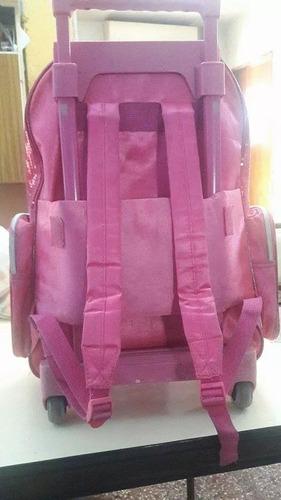 mochila escolar barbie