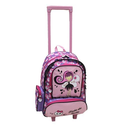Mochila Escolar Carrinho Cruzeiro Infantil Princesa Encantad - R ... 6d13b043b4032