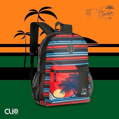 mochila escolar colegial clio style tom veiga original