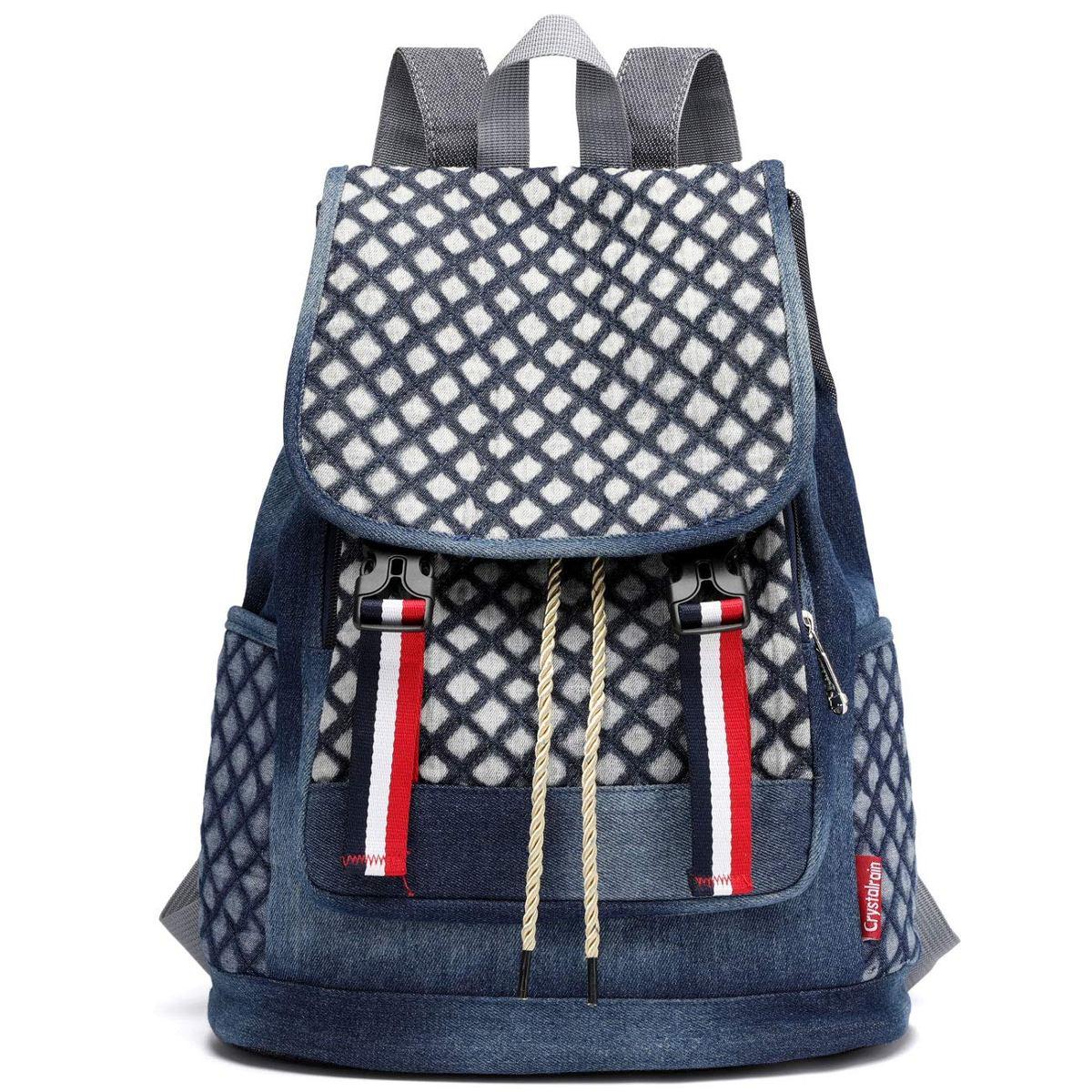 362226dd36f mochila escolar de mezclilla para niñas adolescentes niño... Cargando zoom.