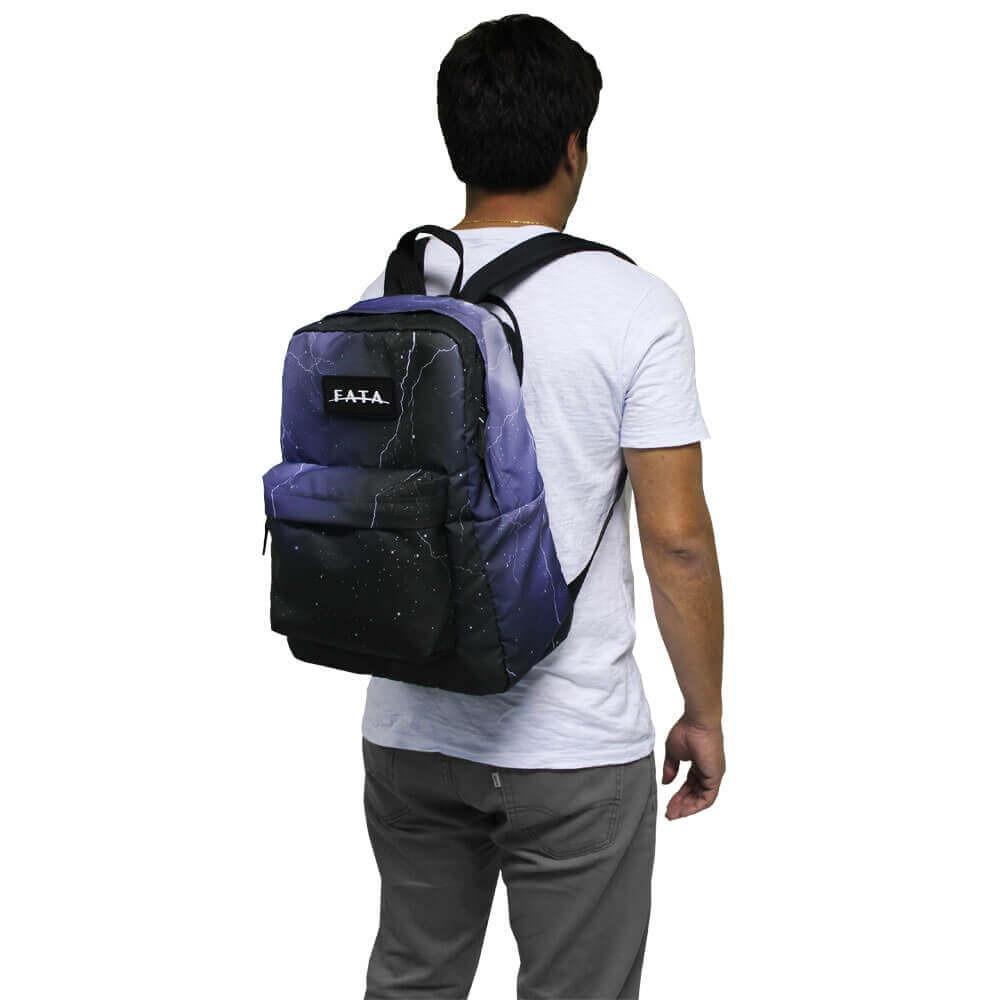 0138e6d178 mochila escolar elementos fata preto raios fata. Carregando zoom.