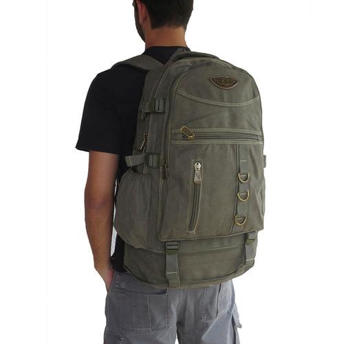 mochila escolar em lona 50 l notebook masculina feminina