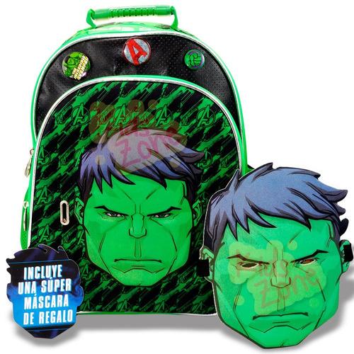 mochila escolar espalda hulk avengers 16p sp419 mascara