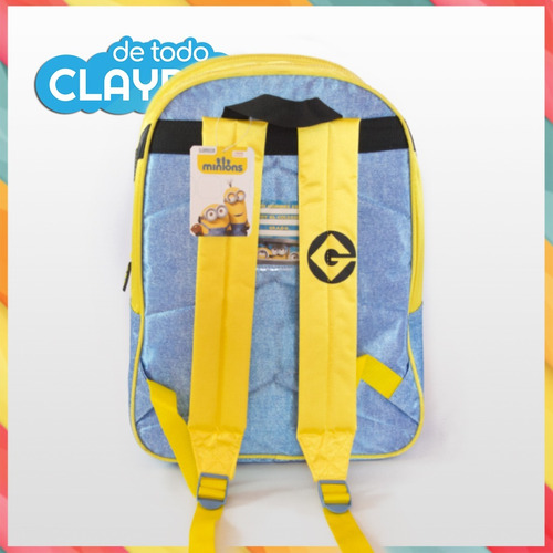 mochila escolar espalda minions 3d 40x30x16 cms 16** wabro