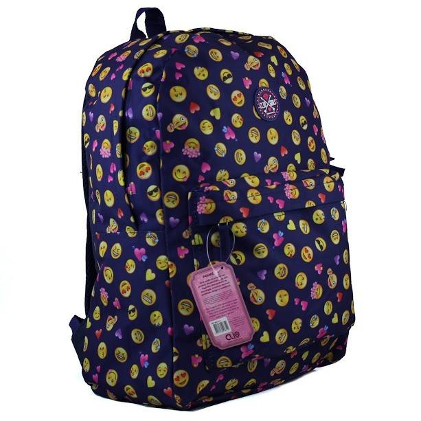 0d12afc38 Mochila Escolar Feminina Clio Emoji Emoticons Promoção - R$ 35,00 em  Mercado Livre