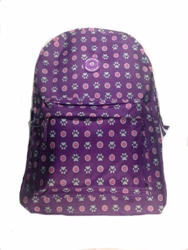 4e6af8443 Mochila Escolar Feminina Juvenil Roxa Com Patinhas Notebook - R$ 35 ...