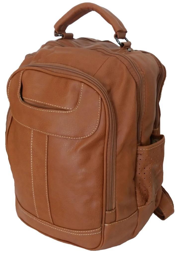 1419a4c5df mochila escolar feminina masculino faculdade passeio couro. Carregando zoom.