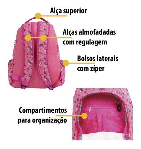mochila escolar floral capricho liberty original 11001