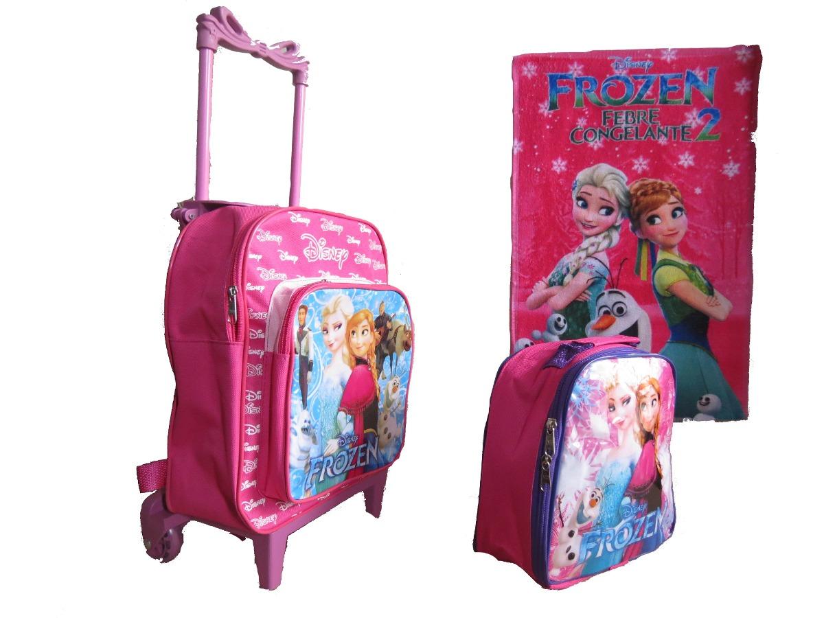 12a1acd9e mochila escolar frozen rodinha crianças até 4 anos lancheira. Carregando  zoom.