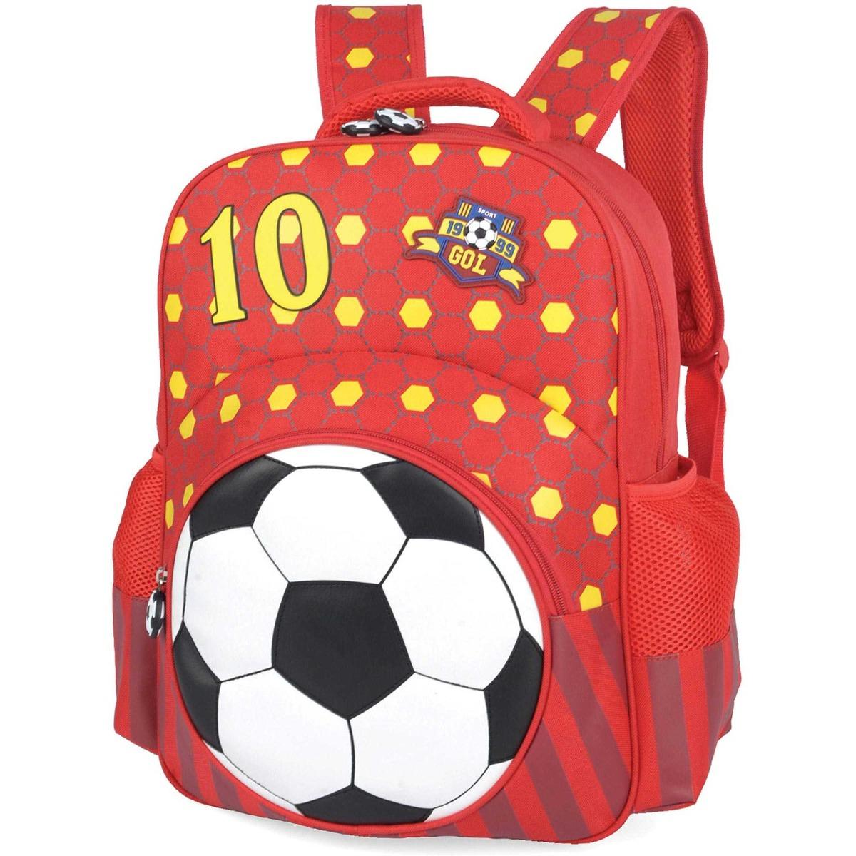 5b7e20bc6 mochila escolar futebol gd 3bolsos sortido luxcel. Carregando zoom.