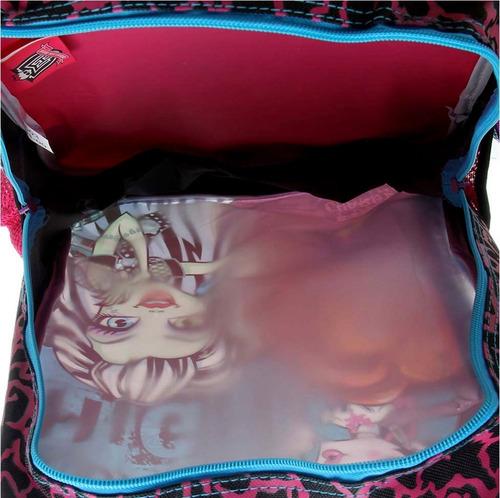 mochila escolar g costas monster high 16m original sestini