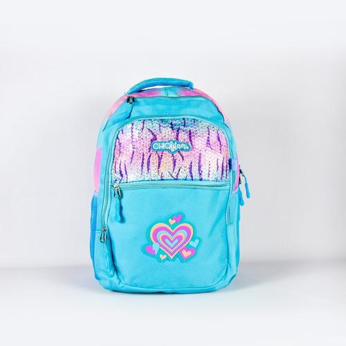 mochila escolar grande amplia reforzada print
