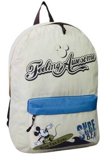 mochila escolar grande disney vintage juvenil dermiwil creme