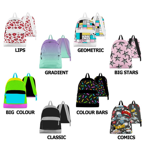 mochila escolar grande urbana adultos adolescentes espalda colegio colourfull fanpack cuotas sin interés