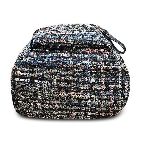 mochila escolar guapabien pequeña con borlas peludas p/niñas