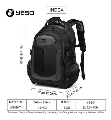 mochila escolar, hombre , regalo juvenil negro yeso