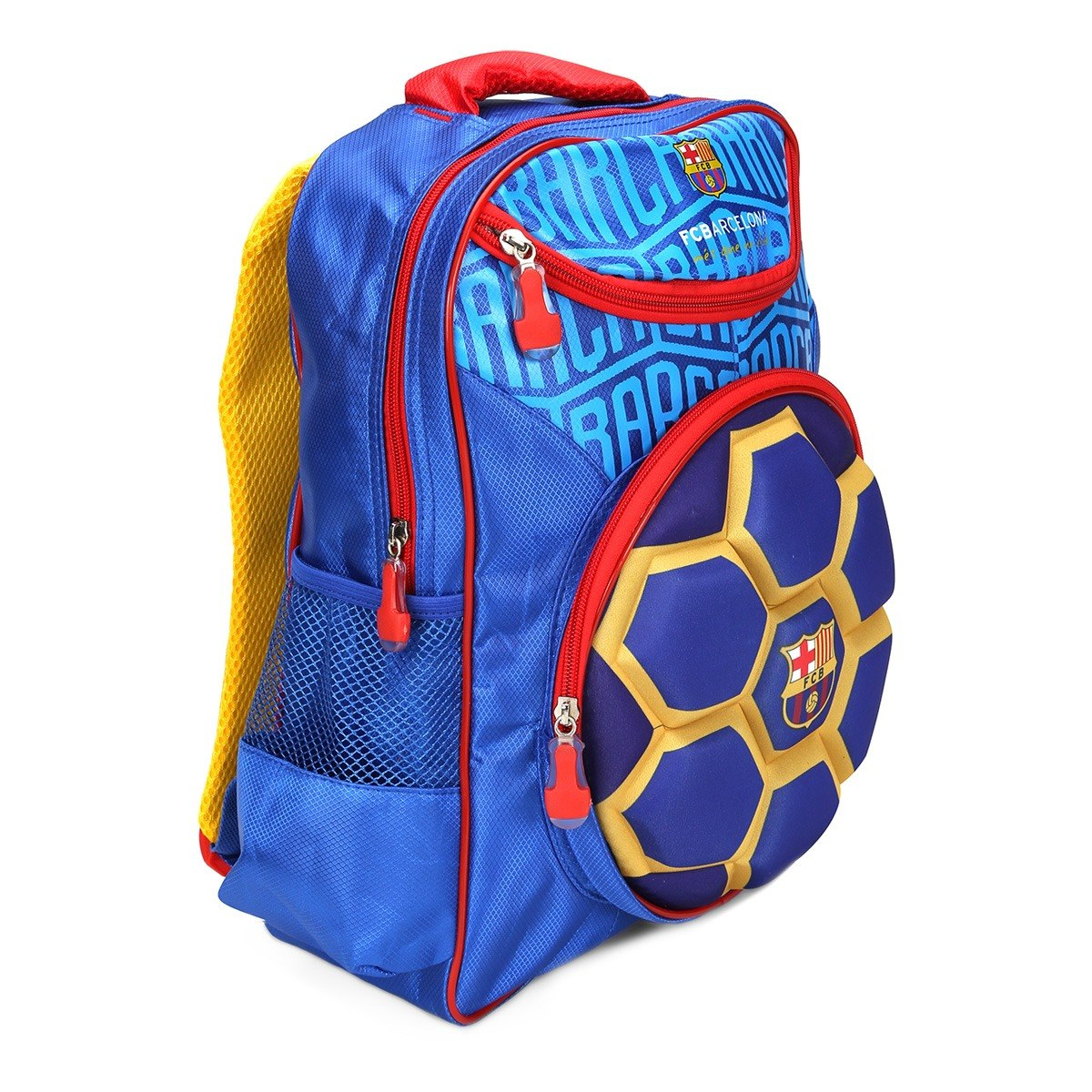 876d4c461 mochila escolar infantil barcelona bola 3d time de futebol. Carregando zoom.
