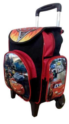 mochila escolar infantil carros baby mcqueem com rodinhas