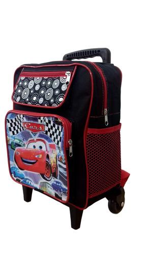 mochila escolar infantil carros macqueen rodinhas tamanho p