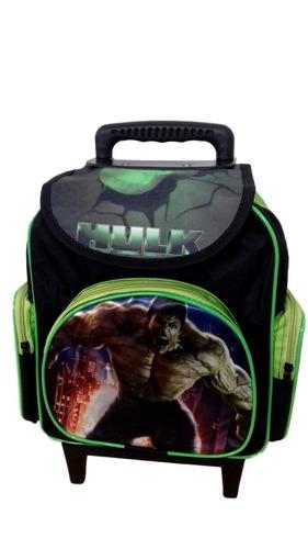 mochila escolar infantil com rodinhas hulk baby (tamanho p)