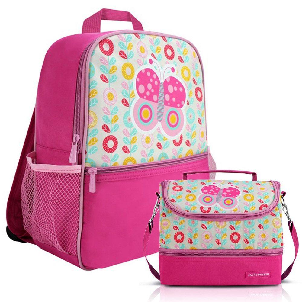 662f49dd1 mochila escolar infantil feminina + lancheira - jacki design. Carregando  zoom.
