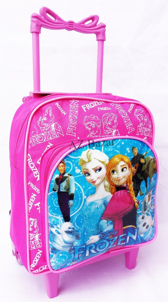 48f3d2e22 mochila escolar infantil frozen com rodinhas pequena rosa. Carregando zoom.