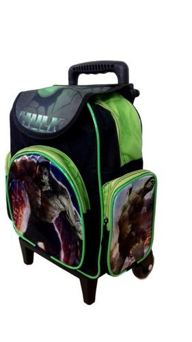 mochila escolar infantil incrível hulk baby (tam p)