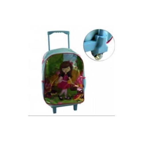 mochila escolar infantil meninas princesas com rodinhas