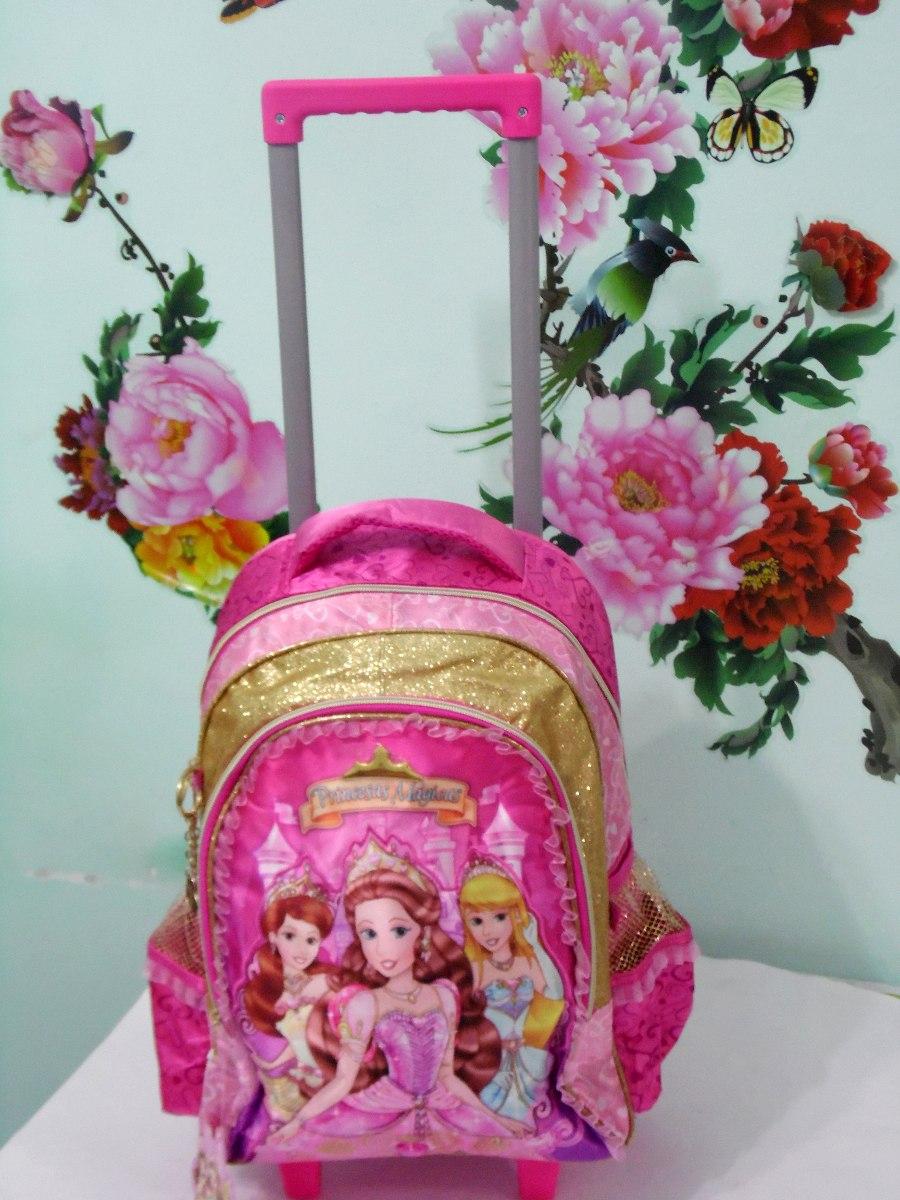 Bolsa Escolar Infantil Feminina Mercado Livre : Mochila escolar infantil princesas com rodinhas r