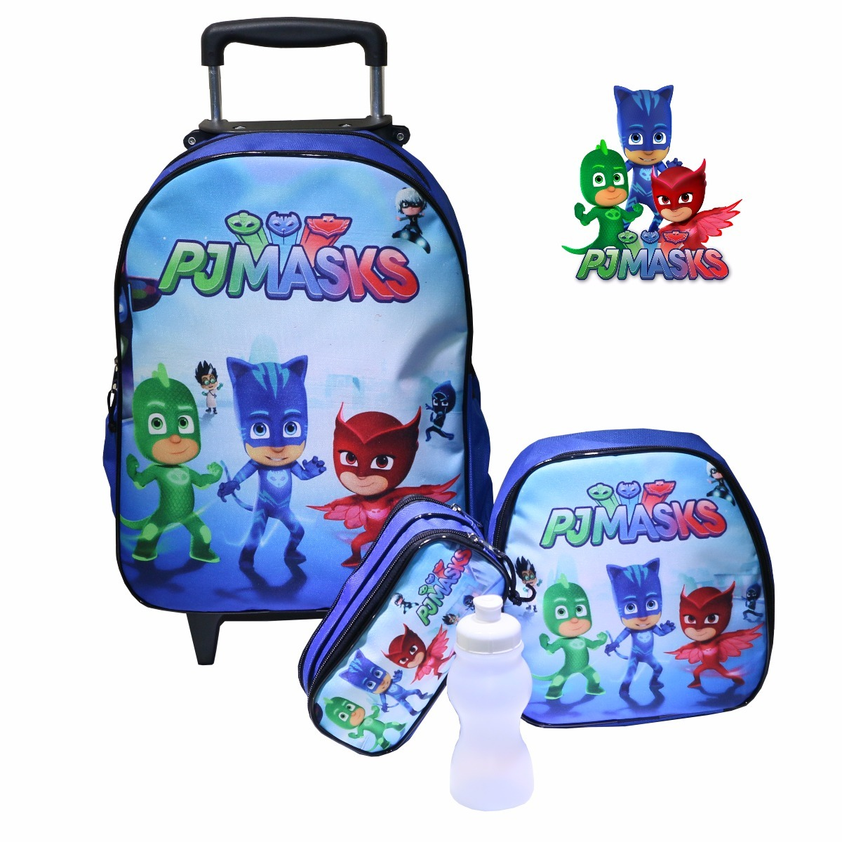 38349b007 mochila escolar infantil rodinha pjmasks jr - promoção. Carregando zoom.