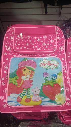 mochila escolar infantil varios personagens consulte