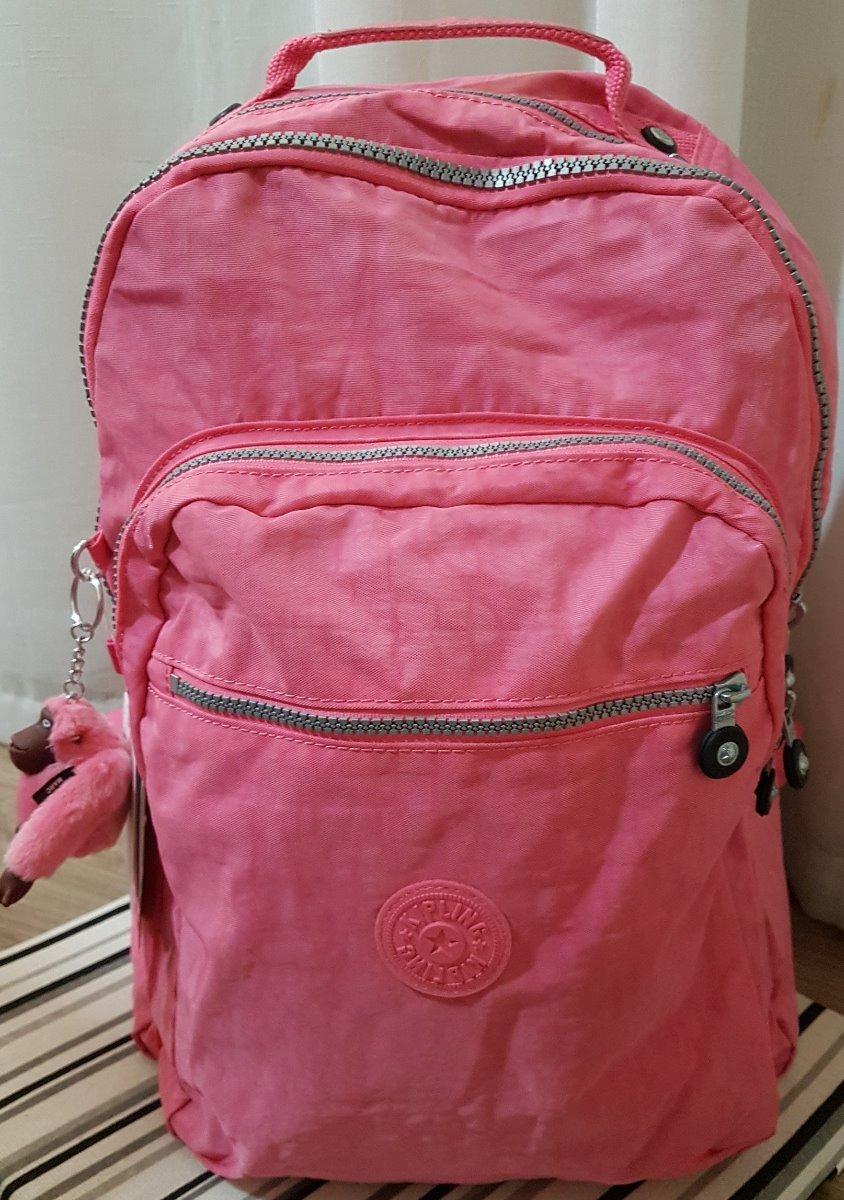 e491c8060 mochila escolar kipling seoul - pronta entrega (rosa claro). Carregando  zoom.