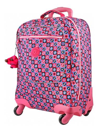 mochila escolar licia kipling original com 4 rodinhas