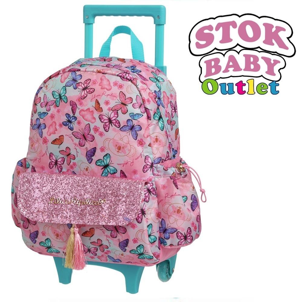 57c8834006d32 mochila escolar lilica ripilic butterfly grande rosa rodinha. Carregando  zoom.
