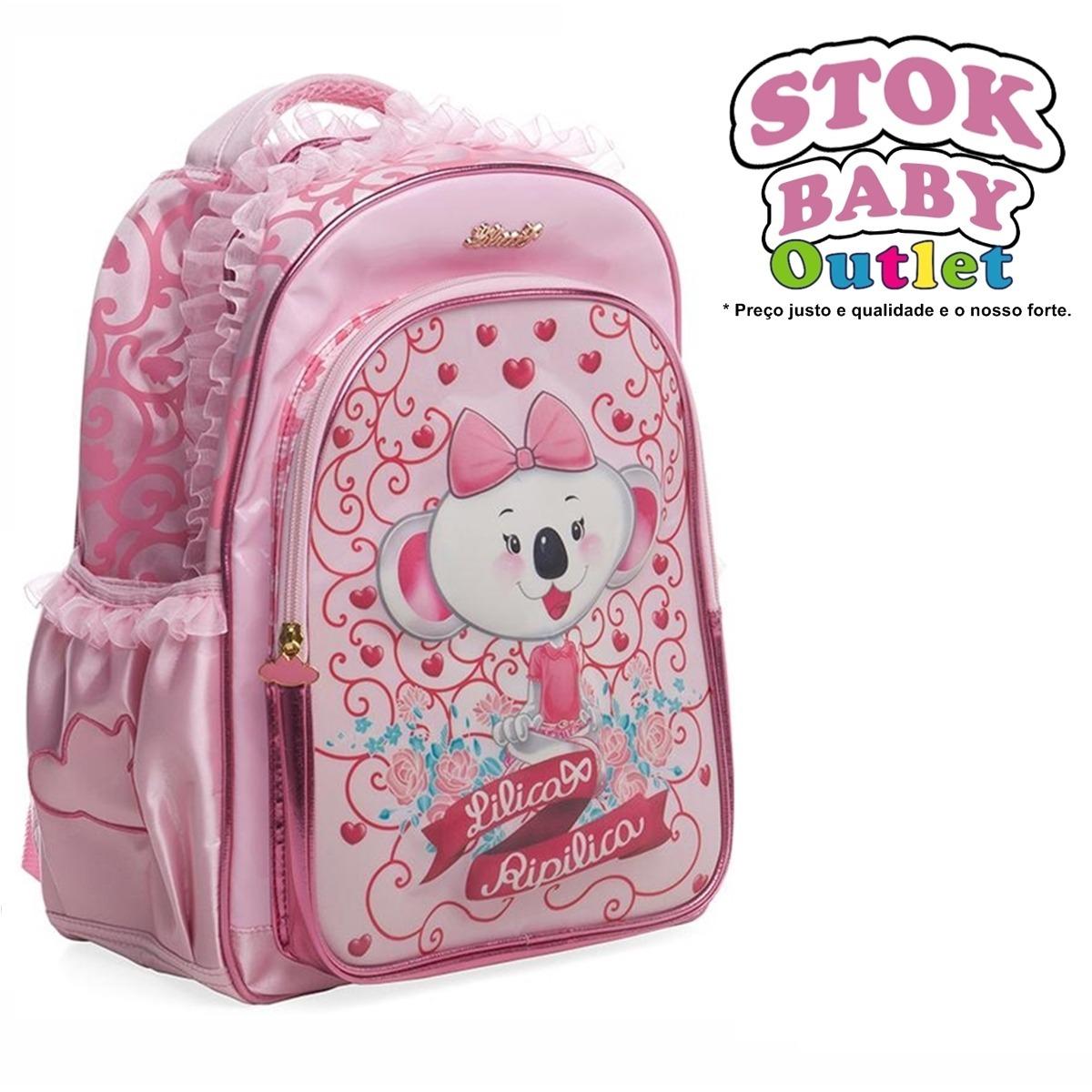 mochila escolar lilica ripilica costa rosa + frete grátis. Carregando zoom. 5a16015ec1