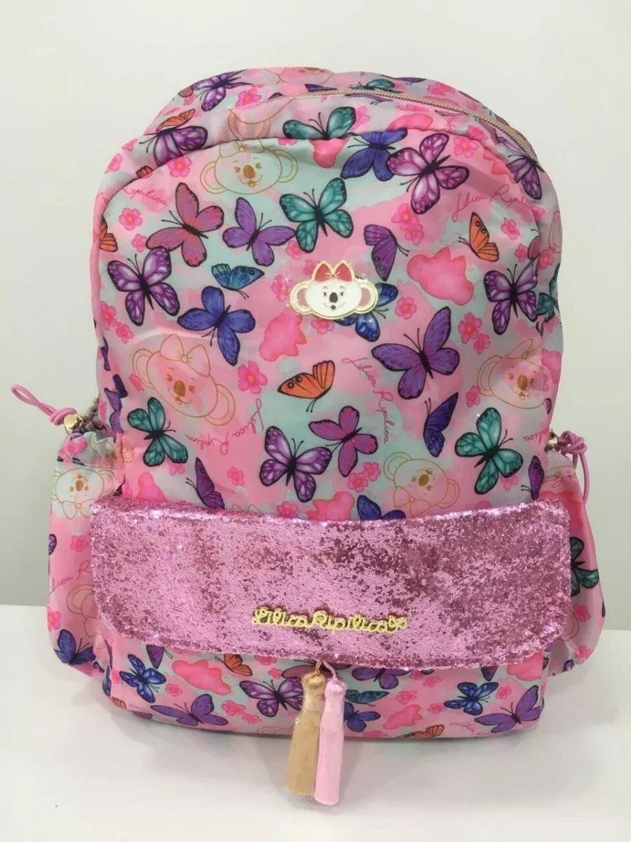 5a4655783974d mochila escolar lilica ripilica rosa butterfly. Carregando zoom.