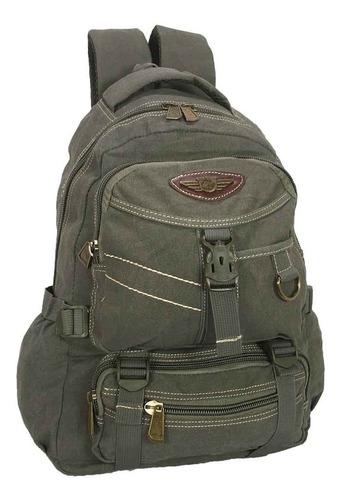 mochila escolar lona 100% original 30 l masculina feminina
