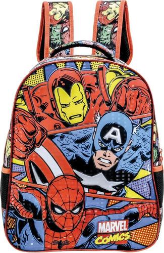 mochila escolar marvel heroes comics trio grande xeryus
