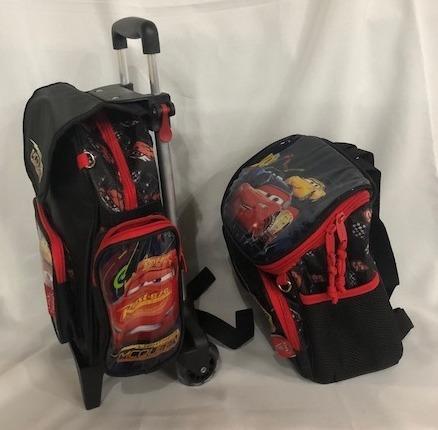 49060468d kit mochila escolar infantil rodinhas carros pequena menino · mochila  escolar menino