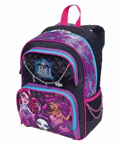 mochila escolar monster high 16y01 pulseira g costas sestini