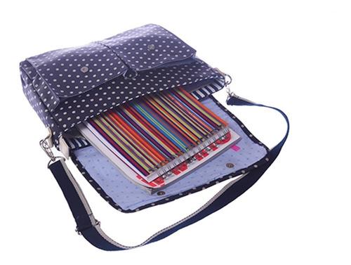 mochila escolar nena niña morral maletín dot matriona azul