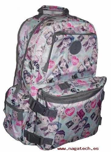 mochila escolar porta notebook 47st street con cartera -70