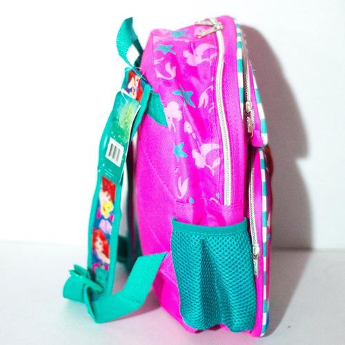 mochila escolar prescolar  kinder la sirenita rosa original