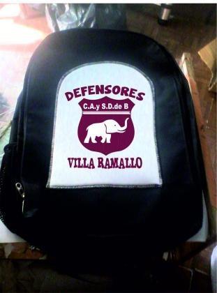 mochila escolar reforzada 50 x 40 cm defensores villa ramall